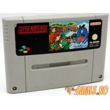 Super Mario World 2 Yoshi's Island - Etikettskade